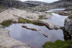 Färgrika bergplatser i Norge Härligt landskap av Norge, Skandinavien Norge berglandskap Royaltyfri Foto