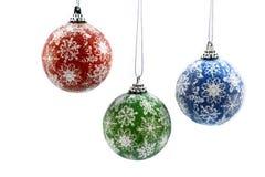 Färgrika bilder för julbollmateriel Royaltyfria Foton