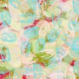 Färgrika blått, rosa färggräsplan och röd digital målarfärgmall, banne Arkivbilder