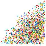 Färgrika blandade konfettier på vit bakgrund Fotografering för Bildbyråer