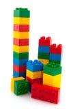 färgrika block Arkivfoto
