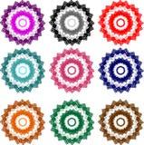 Färgrika blom- modeller Arkivbild
