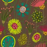 Färgrika blom- seamless mönstrar Royaltyfria Foton