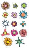 Färgrika blommor royaltyfri illustrationer