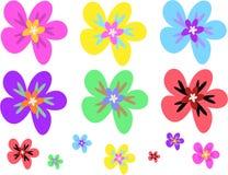 färgrika blommor blandar sidan royaltyfri illustrationer