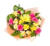 färgrika blommor för bukett Arkivfoton