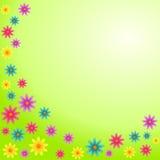 färgrika blommor för kort stock illustrationer