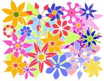 färgrika blommor grupperar vektorn Royaltyfria Bilder