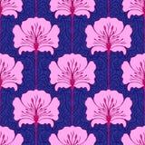 färgrika blommor mönsan seamless Royaltyfri Fotografi