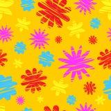färgrika blommor mönsan seamless Arkivbild