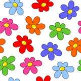 färgrika blommor mönsan seamless Royaltyfri Foto
