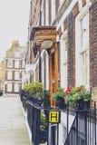 Färgrika blommor som smyckar gatorna av London Arkivfoton