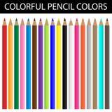 Färgrika blyertspennafärger Arkivfoto