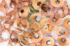 färgrika blyertspennashavings Royaltyfria Bilder