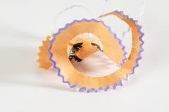färgrika blyertspennashavings Royaltyfri Fotografi