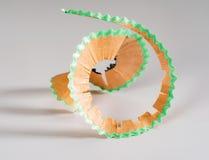 färgrika blyertspennashavings Fotografering för Bildbyråer
