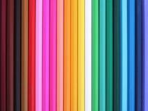 färgrika blyertspennor Royaltyfri Fotografi