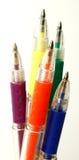 färgrika blyertspennor Arkivbilder