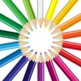 färgrika blyertspennor Vektor Illustrationer