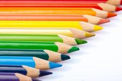 Färgrika blyertspennor Arkivbild