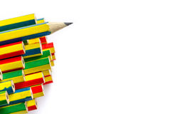 Färgrika blyertspennor stänger sig upp Royaltyfri Bild