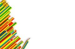 Färgrika blyertspennor stänger sig upp Royaltyfria Foton