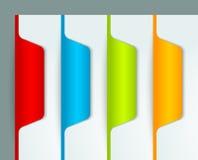 Färgrika bokmärkear Arkivbilder