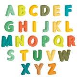 färgrika bokstäver Arkivfoto