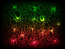 färgrika bokstäver Arkivfoton