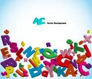 färgrika bokstäver för alfabet vektor illustrationer