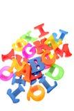 färgrika bokstäver för alfabet Royaltyfri Fotografi