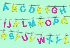 färgrika bokstäver för alfabet Royaltyfri Foto