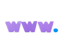 färgrika bokstäver www Arkivfoto