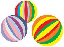 färgrika bollar Arkivfoto