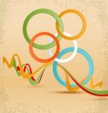 färgrika bollar för tappningabstrakt begrepp 3d vektor illustrationer
