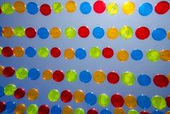 Färgrika bollar i staden av Agueda Royaltyfri Bild
