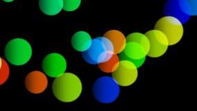 Färgrika bollar som studsar från jordningen - sömlös öglasanimering vektor illustrationer