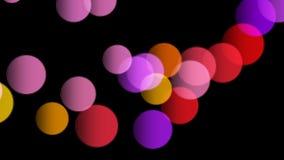 Färgrika bollar som studsar från jordningen - sömlös öglasanimering lager videofilmer