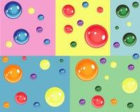 Färgrika bubblor för födelsedag och gyckel Royaltyfria Foton