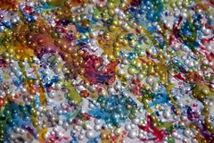 Färgrika bubblor målar abstrakt bakgrund, abstrakt bakgrund Royaltyfri Fotografi