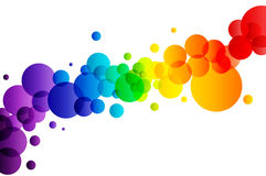 Färgrika bubblor på vit bakgrund Royaltyfri Fotografi