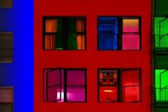 Färgrika byggnader Arkivbild