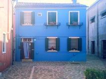 färgrika byggnader av ön Burano Venedig Italien Royaltyfri Foto