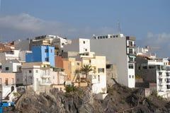Färgrika byggnader av Tenerife Arkivbild