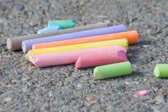 Färgrika chalks Royaltyfri Foto