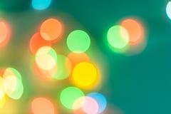 Färgrika cirklar av bokehljusabstrakt begrepp Royaltyfria Foton