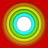 Färgrika cirklar 3D Royaltyfri Fotografi
