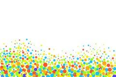Färgrika cirklar på en vit bakgrund Arkivfoto