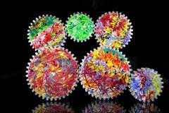 färgrika cogwheels Royaltyfri Bild
