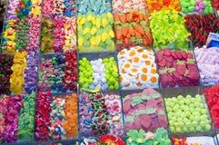 Färgrika Confections royaltyfria bilder